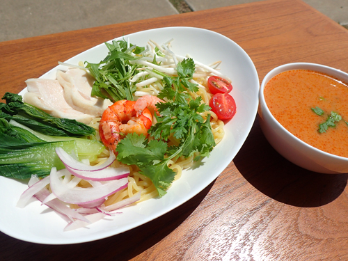 トムヤムクンつけ麺(試作版)