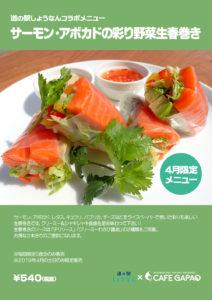 サーモン・アボカドの彩り野菜生春巻き