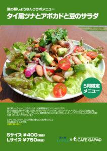 タイ風ツナとアボカドと豆のサラダ