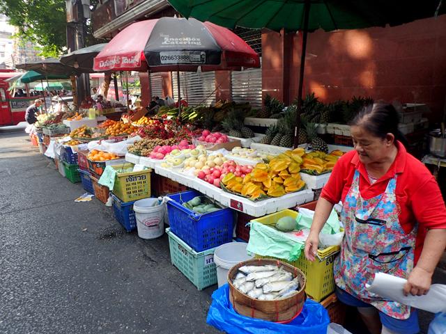 バンコクの市場屋台