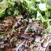 豚肉のラープサラダ