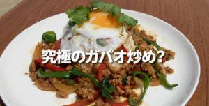 『究極のガパオ炒め』を作ってみたら食べてみたいですか?